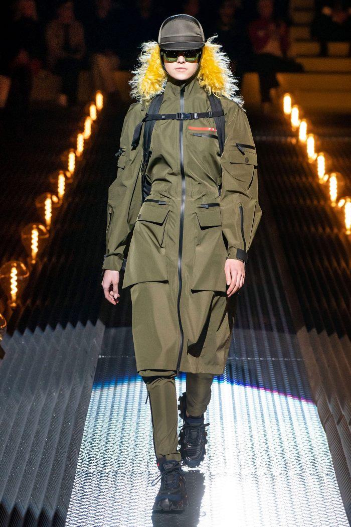 С чем носить женские спортивные ботинки. Образ из новой коллекции Prada