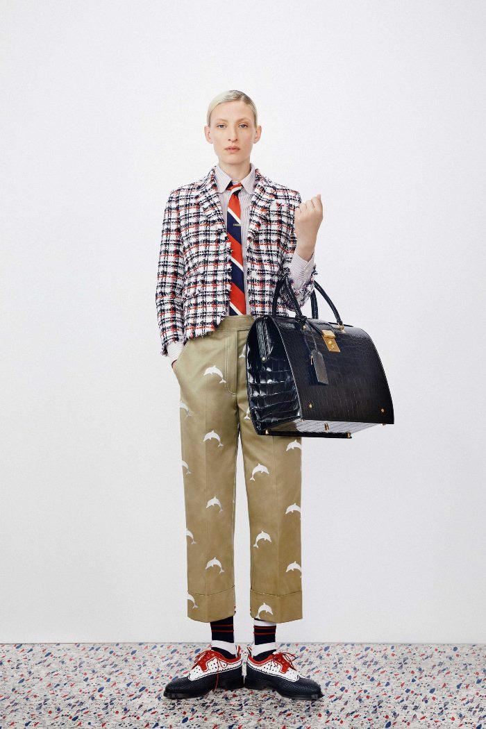 С чем носить женские ботинки броги и дерби. Образ из новой коллекции Thom Browne