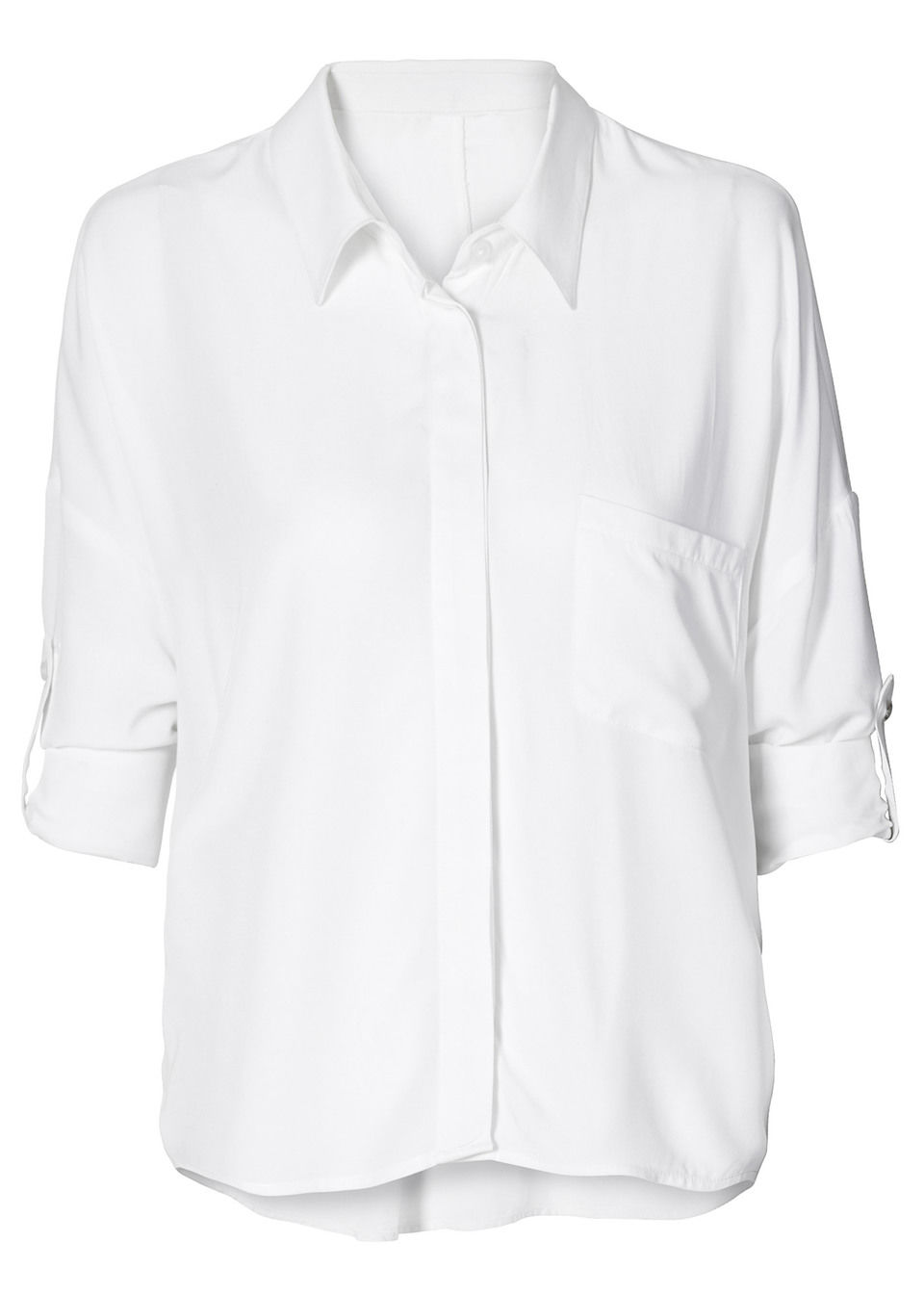 Белая блузка для базового гардероба
