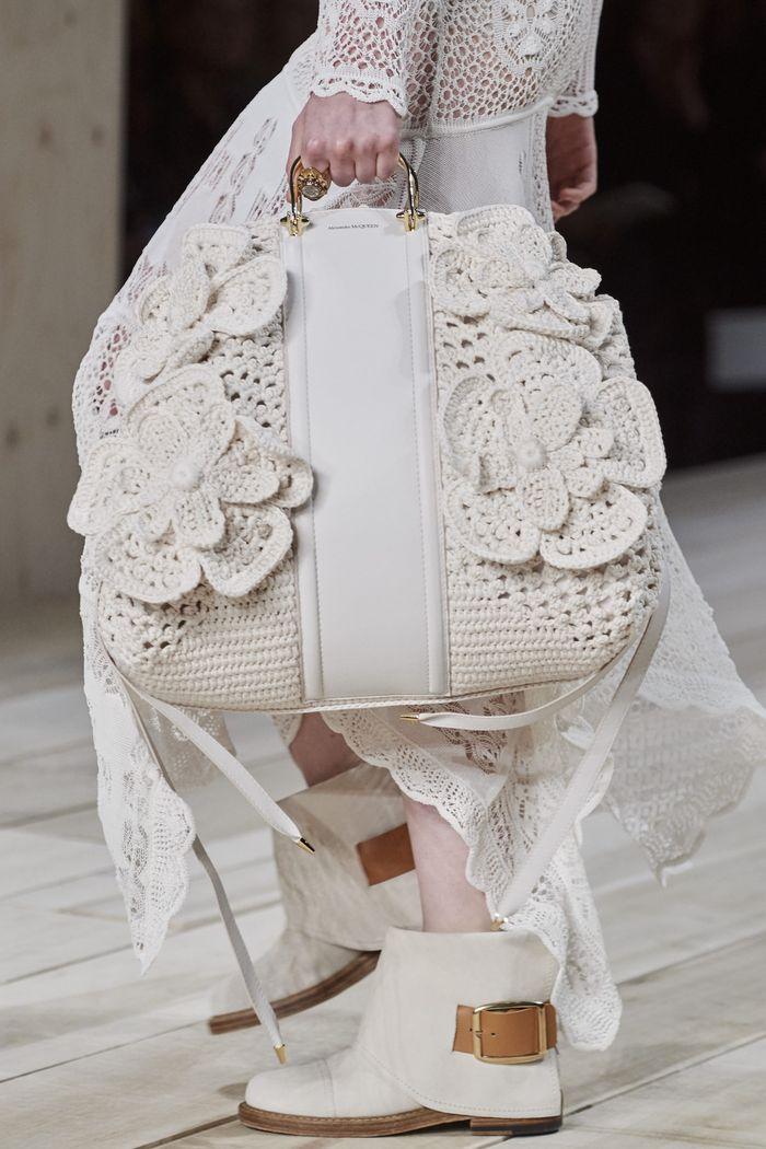 Модная вязаная сумка 2020 из коллекции Alexander McQueen