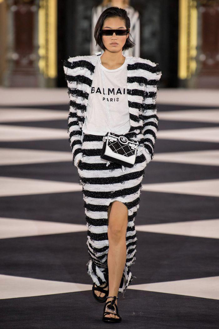 Модные принты в женской одежде 2020. Коллекция Balmain