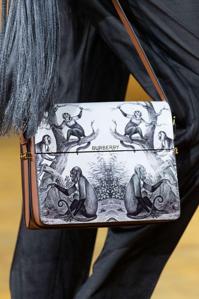 Модная поясная с принтом 2020 из коллекции Burberry