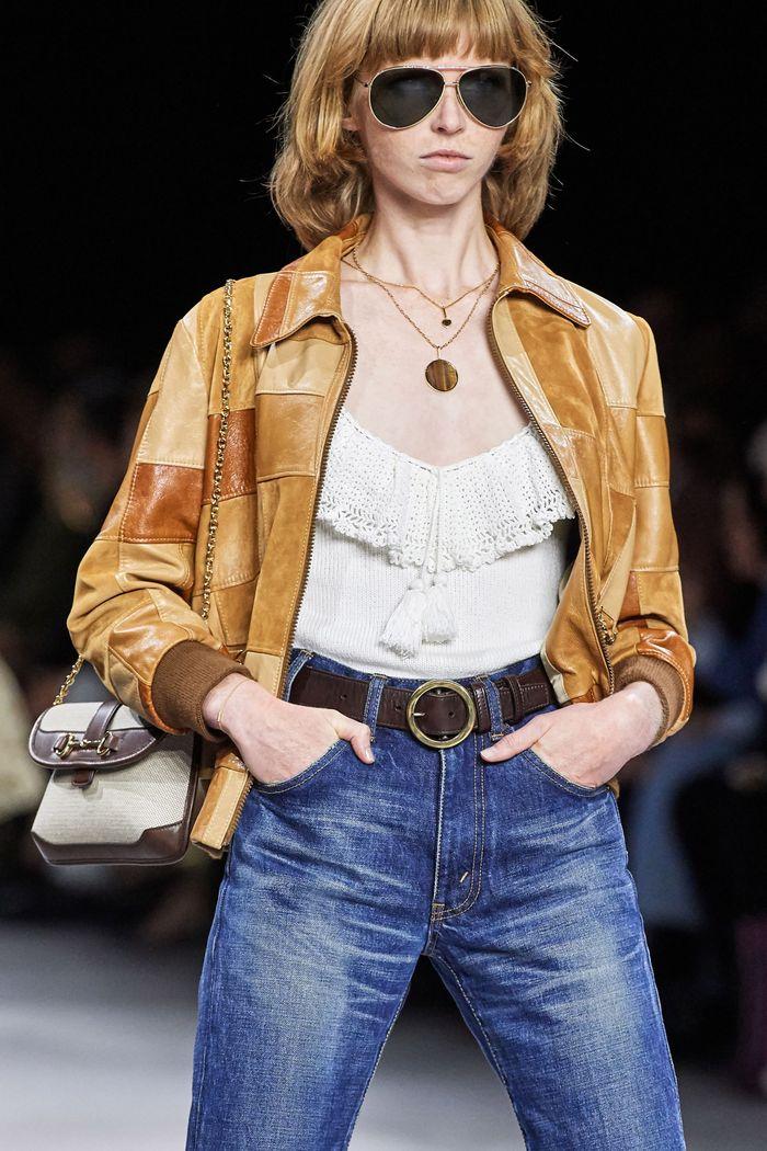 Стрижки моделей на показе Celine 2020