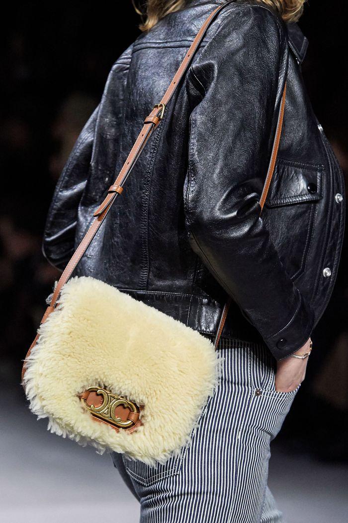 Модная сумка 2020 с мехом из коллекции Celine