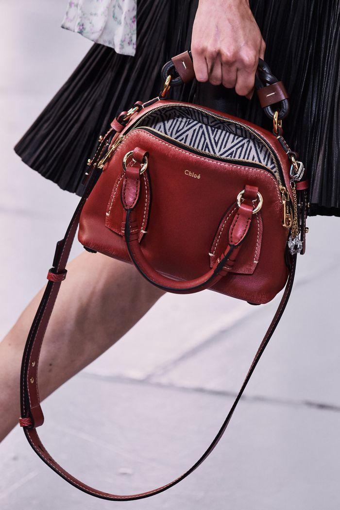 Модная бордовая сумка 2020 из коллекции Chloé