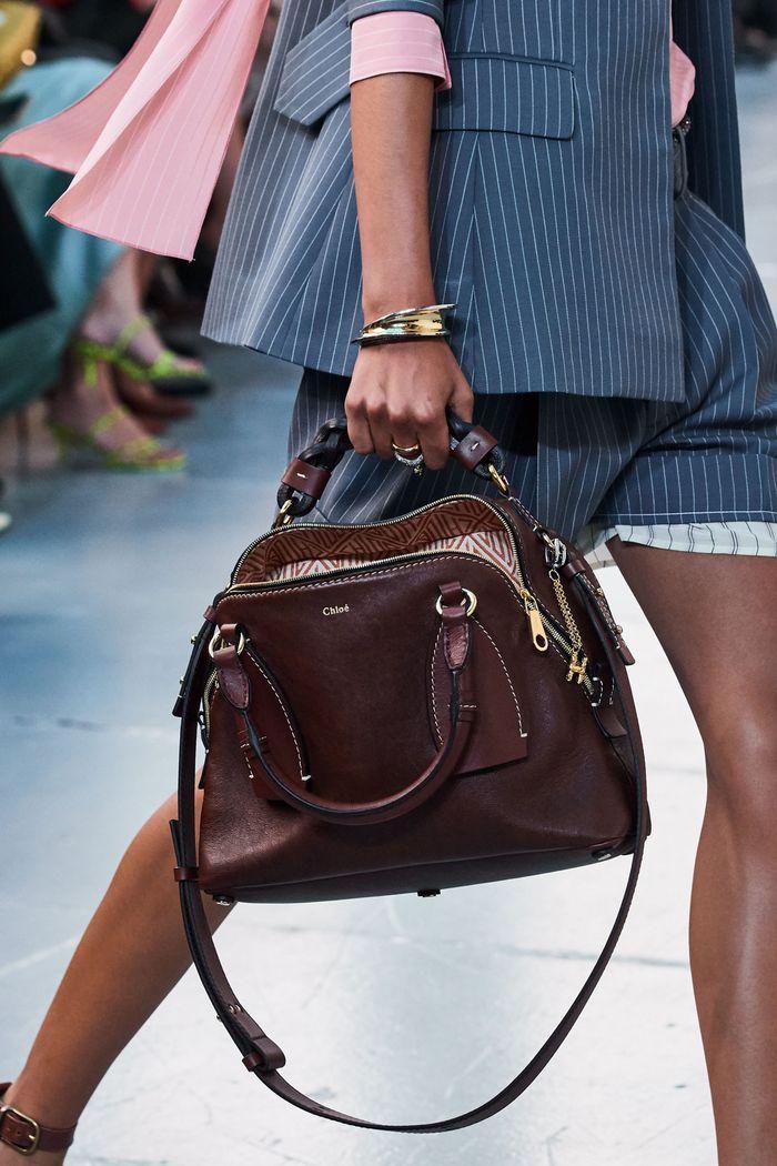 Модная коричневая сумка 2020 из коллекции Chloé
