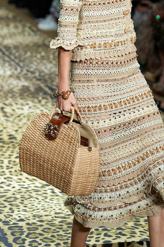 Модная плетеная сумка 2020 из коллекции Dolce & Gabbana
