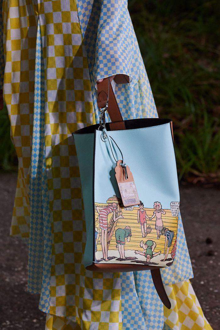 Модная поясная с принтом 2020 из коллекции Lanvin