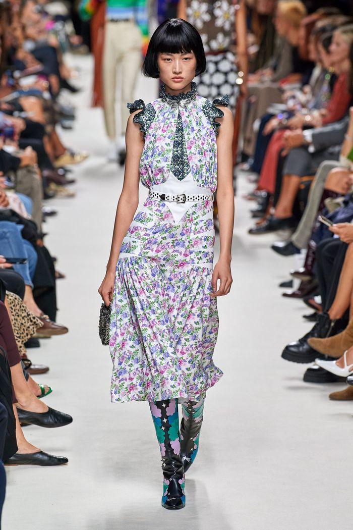 Модные принты в женской одежде 2020. Коллекция Paco Rabanne