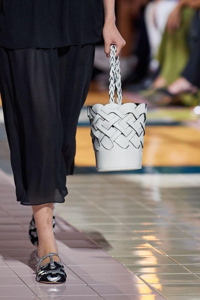 PradaМодная форма сумок 2020 - корзина. Коллекция Prada