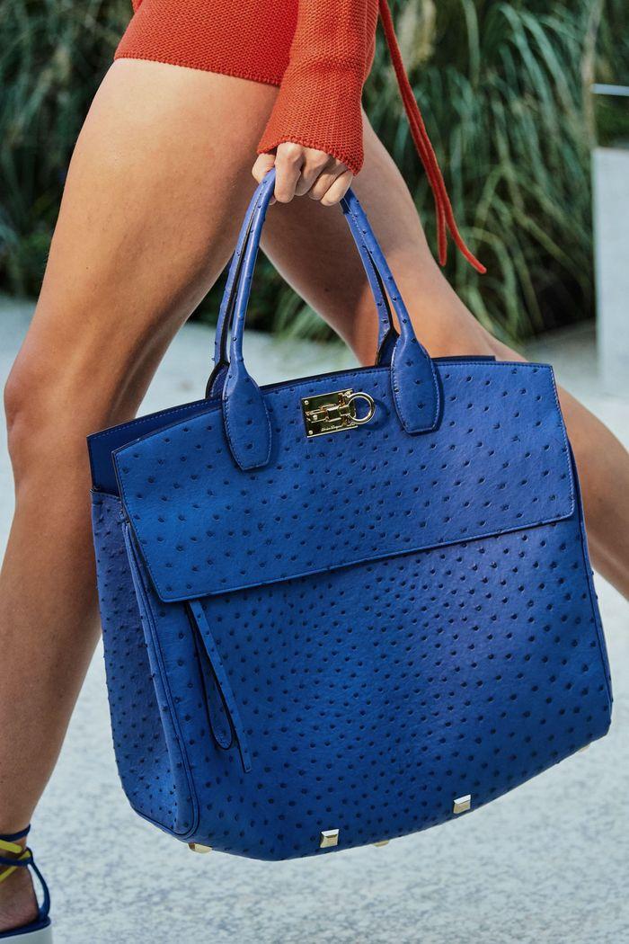 Модная синяя сумка 2020 из коллекции Salvatore Ferragamo