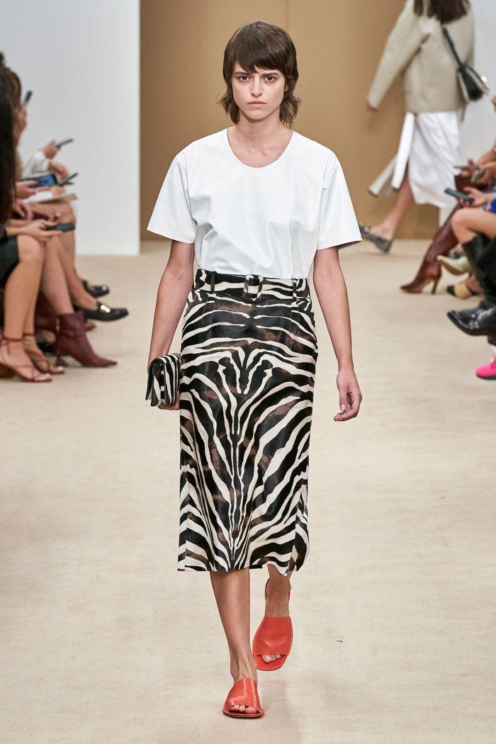 Модные принты в женской одежде 2020. Коллекция Tod's