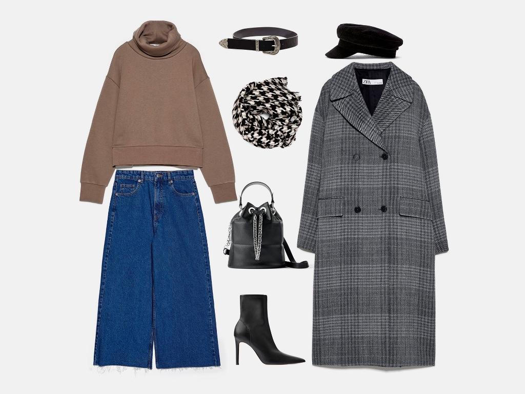 Инфографика: Какую шапку носить с серым пальто? Совет стилиста по подбору образа
