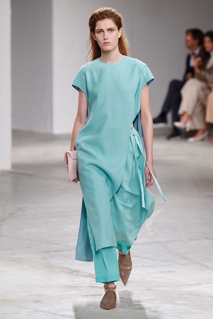 Модные цвета платьев 2020. Коллекция Agnona