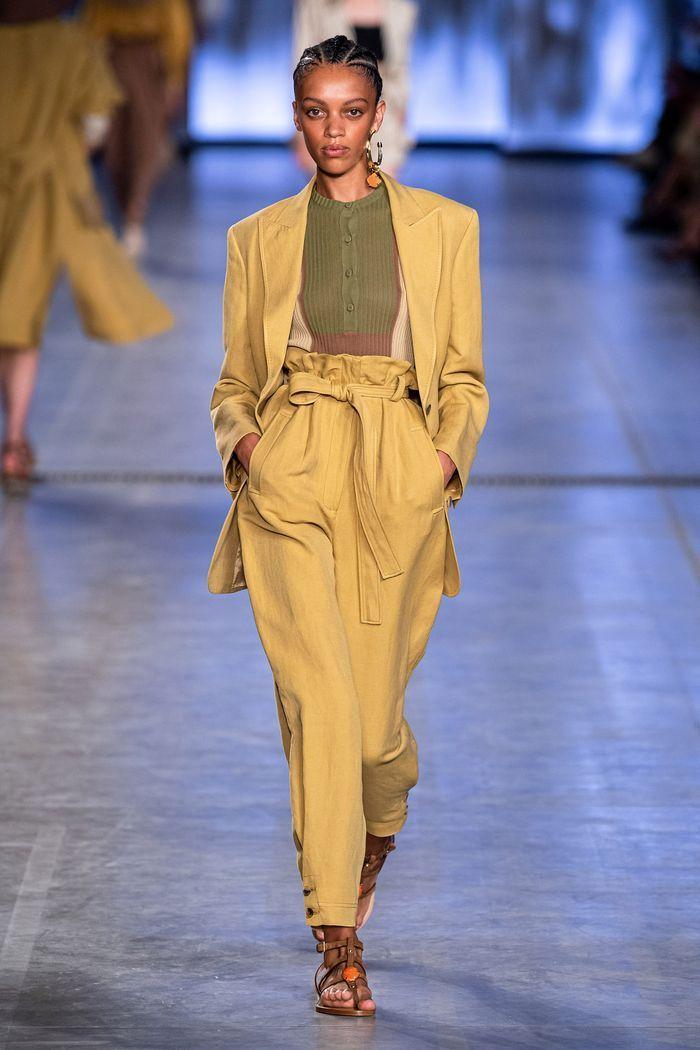 Модные брюки 2020 с высокой талией из коллекции Alberta Ferretti