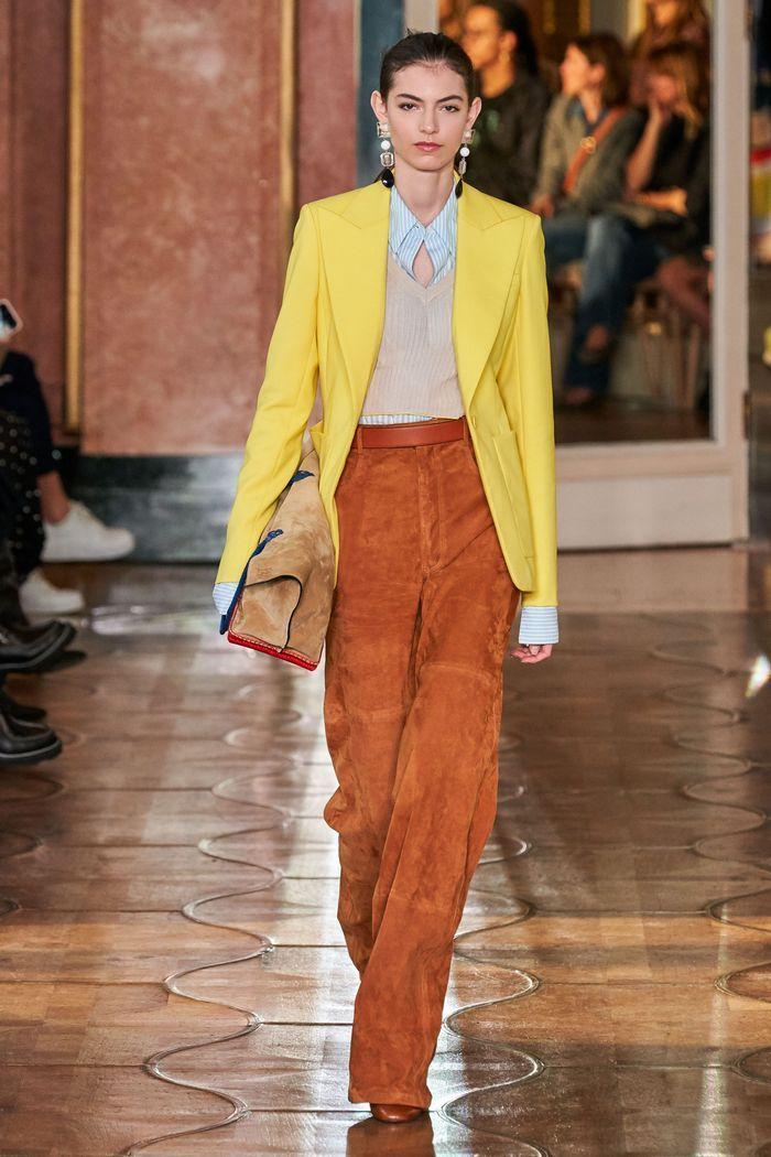 Модные замшевые брюки 2020 из коллекции Altuzarra