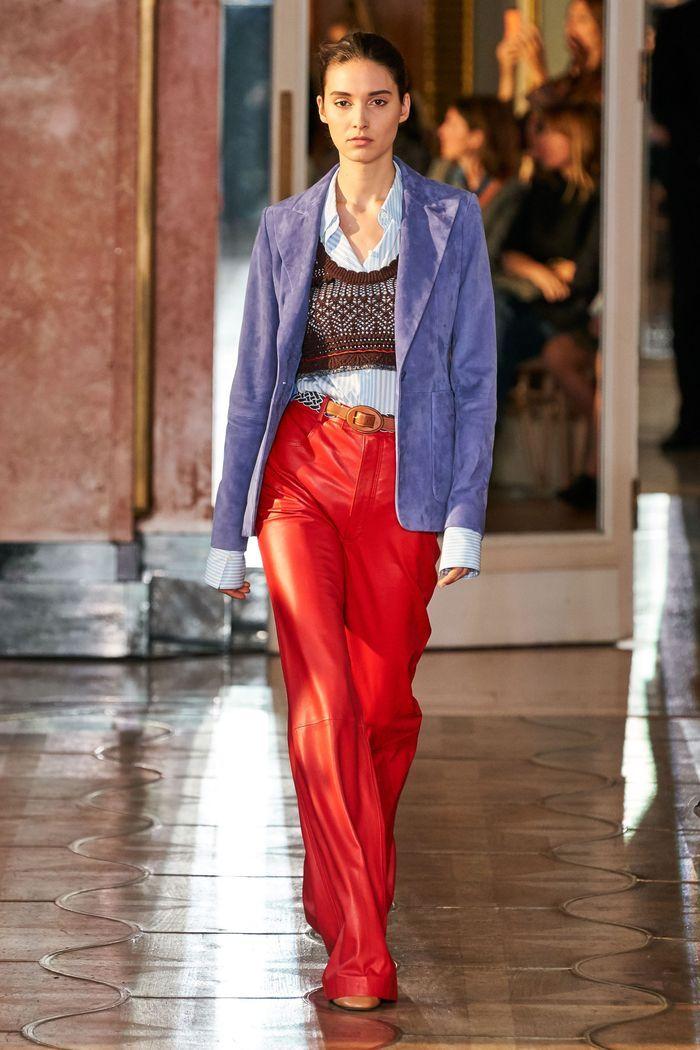 Модные кожаные брюки 2020 из коллекции Altuzarra