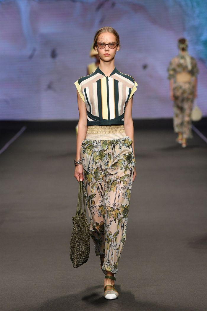 Модные летние брюки с принтом 2020 из коллекции Anteprima