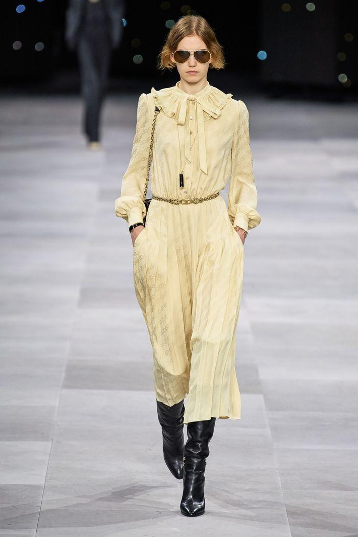 Модные цвета платьев 2020. Коллекция Celine