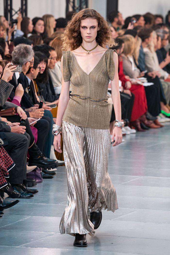 Модная юбка-брюки 2020 из коллекции Chloé