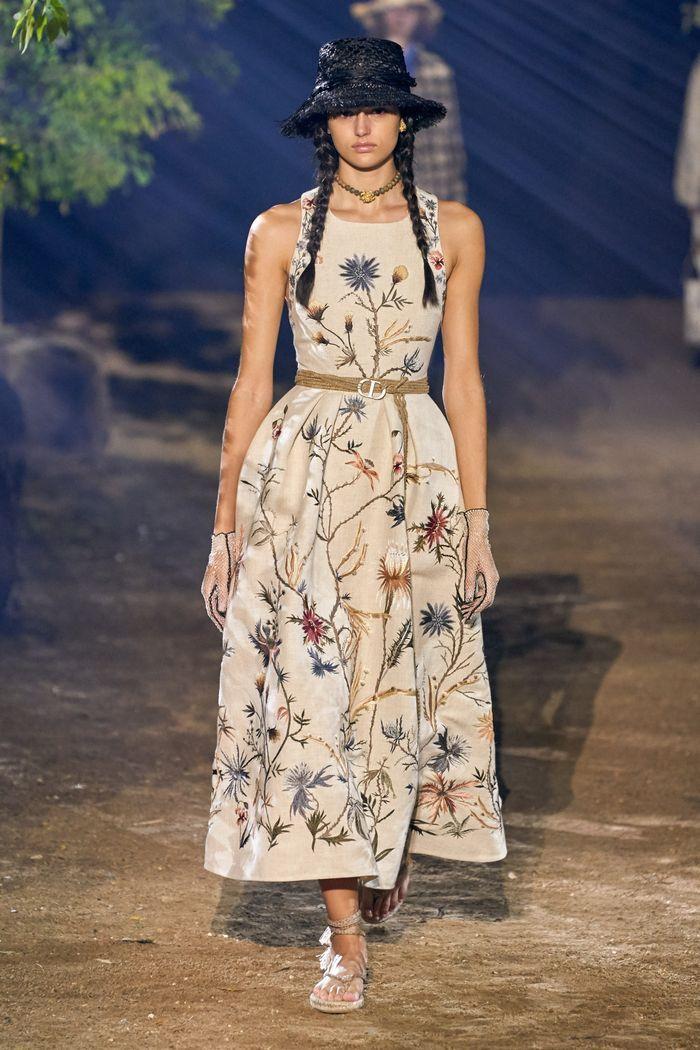 Модные принты у платьев 2020. Коллекция Christian Dior