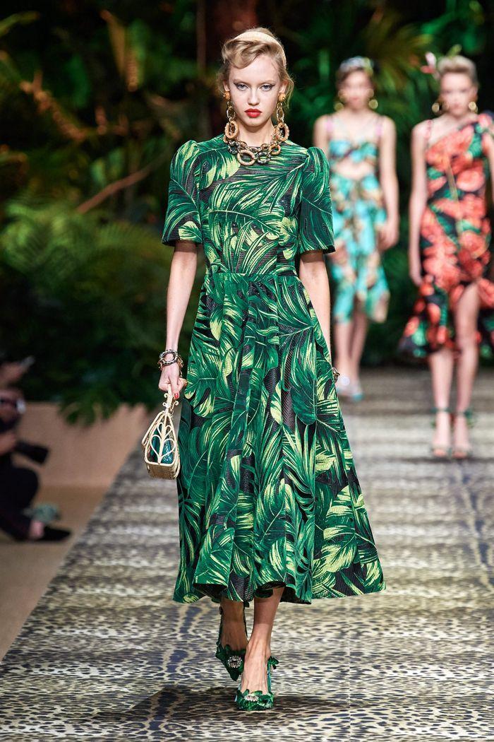 Модные принты платьев 2020. Коллекция Dolce & Gabbana