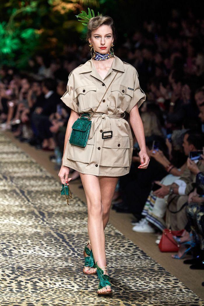 Модное платье 2020 из коллекции Dolce & Gabbana