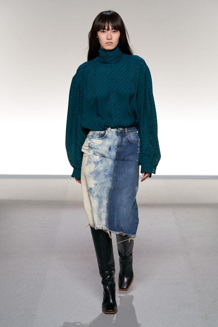 Модная длинная джинсовая юбка 2020 из коллекции Givenchy