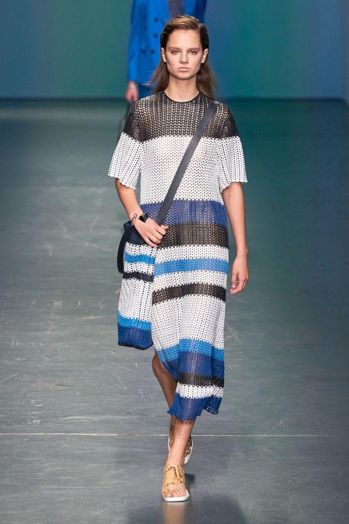 Модное вязаное платье 2020 из коллекции Hugo Boss