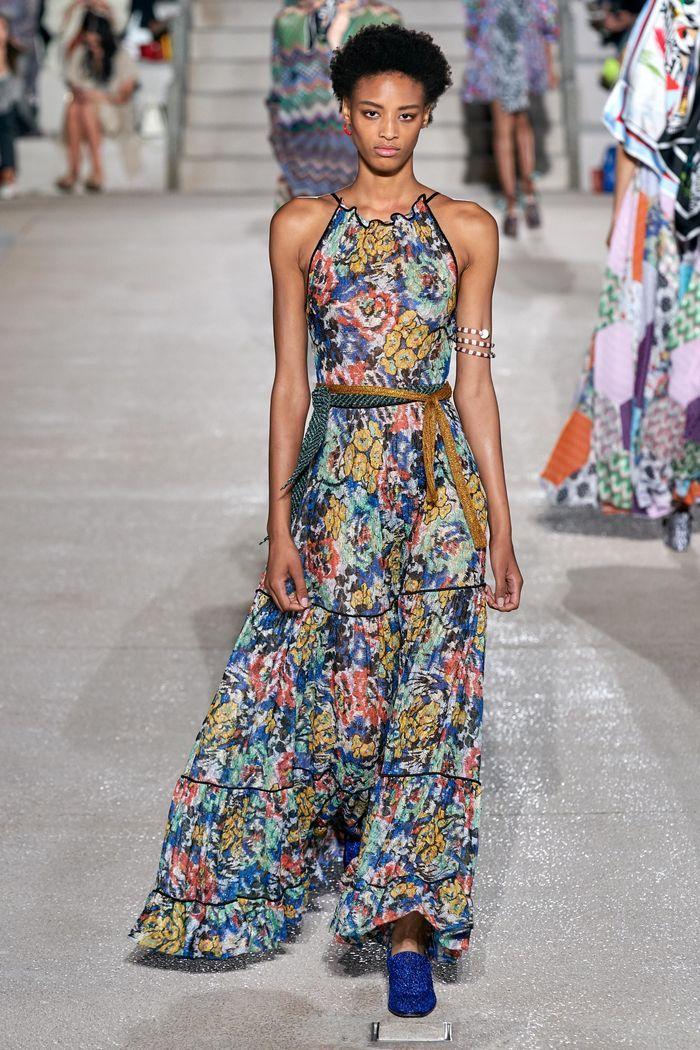 Модные принты платьев 2020. Коллекция Missoni