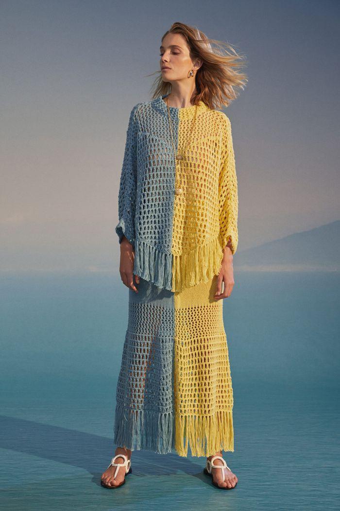 Модная вязаная юбка 2020 из коллекции See by Chloé
