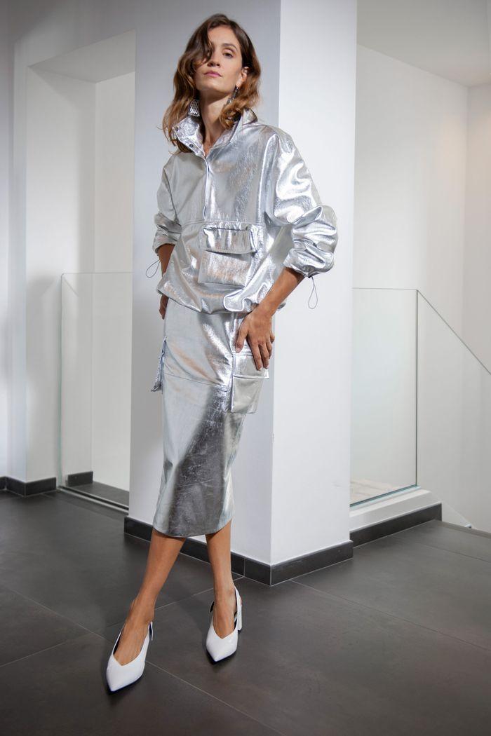 Модная юбка 2020 с накладными карманами из коллекции Simonetta Ravizza