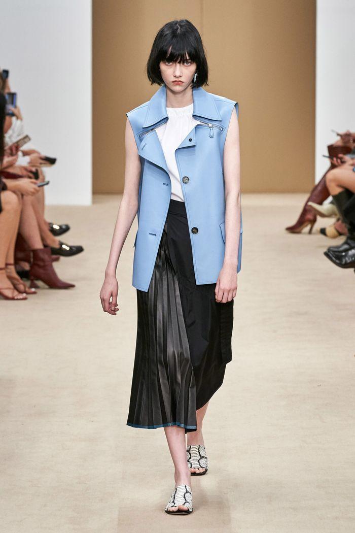 Модная кожаная юбка 2020 из коллекции Tod's