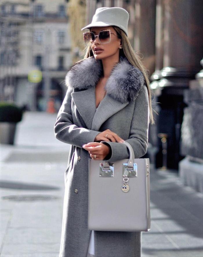 С чем носить серое пальто? 5 модных образов