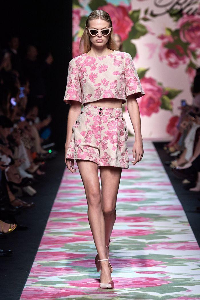 Модные шорты с завышенной талией из коллекции 2020 Blumarine
