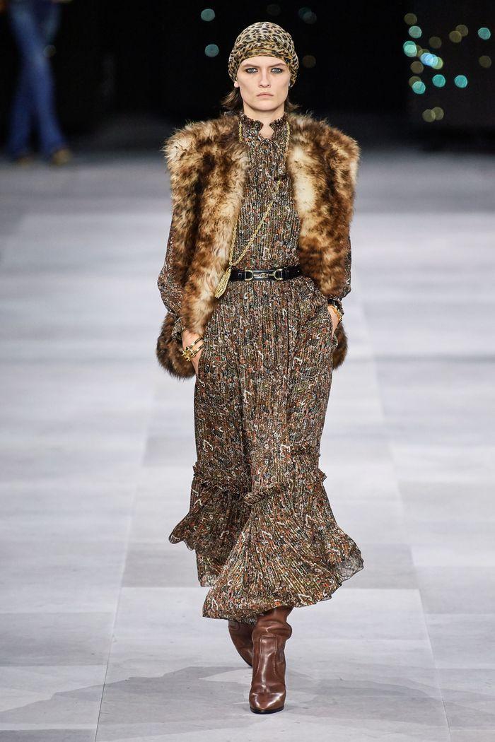 Модная куртка-жилет из искусственного меха, коллекция Celine 2020