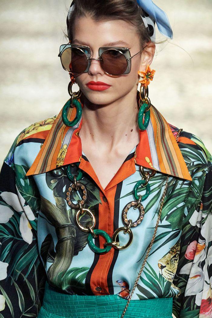 Модные солнцезащитные женские очки с двойными стеклами из коллекции 2020 Dolce & Gabbana