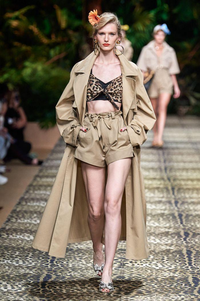 Модные шорты с завышенной талией из коллекции 2020 Dolce & Gabbana