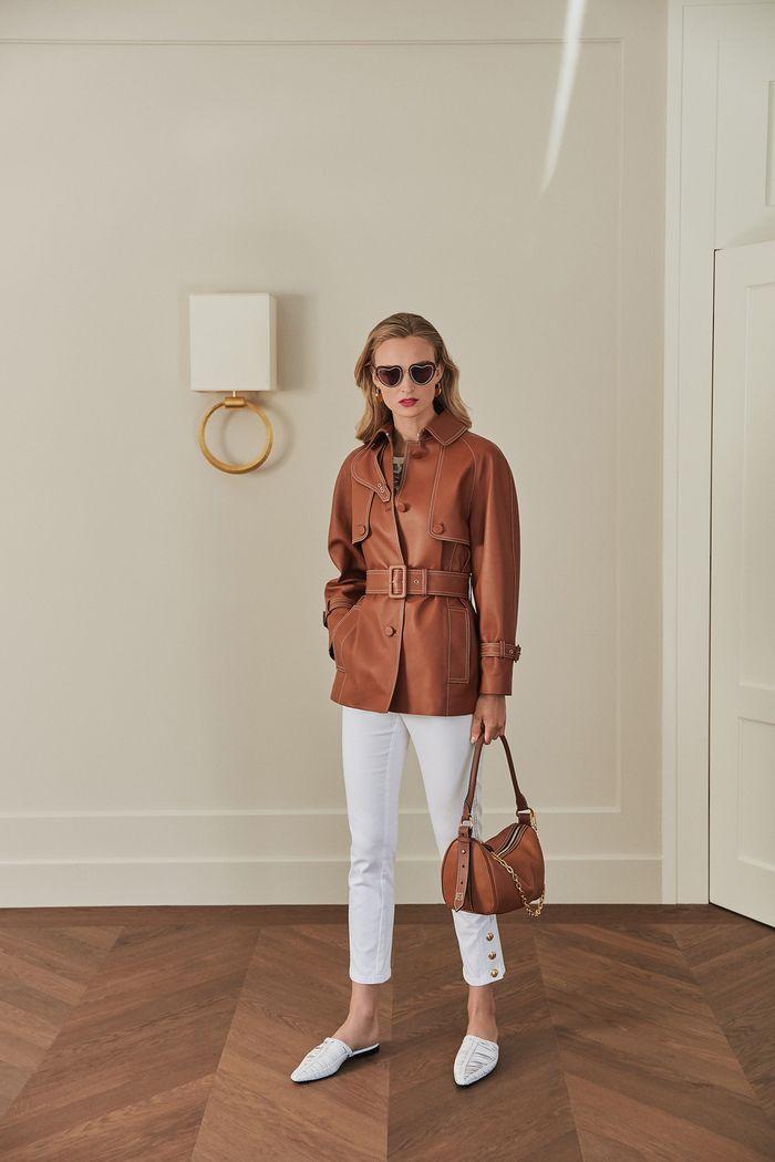 Модная кожаная куртка 2020 из коллекции Escada