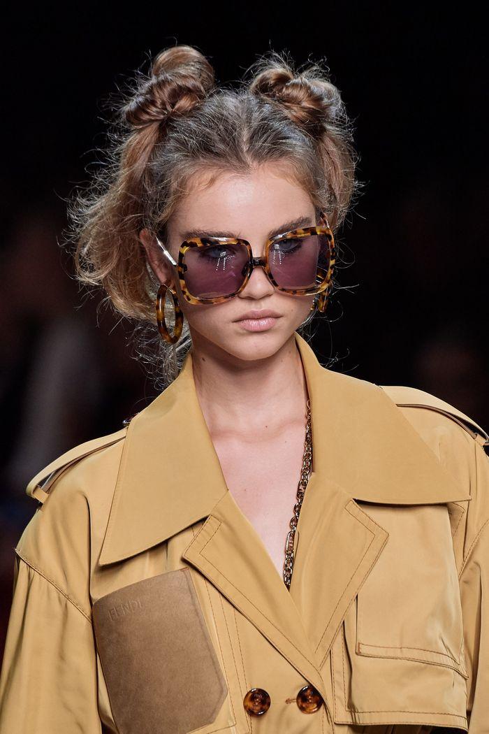 Модные женские очки square с квадратной оправой из коллекции 2020 Fendi