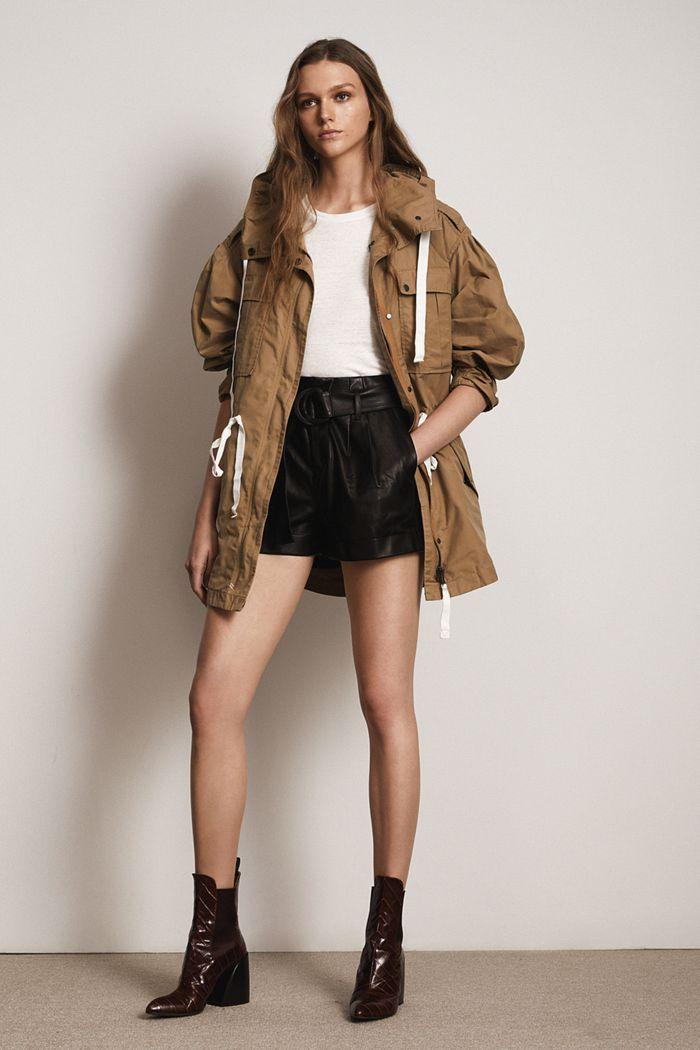 Модные кожаные шорты из коллекции весна-лето 2020 Frame Denim