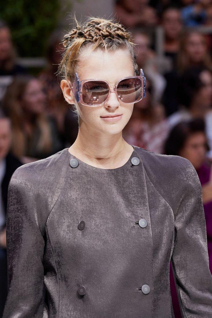 Модные женские очки square с квадратной оправой из коллекции 2020 Giorgio Armani