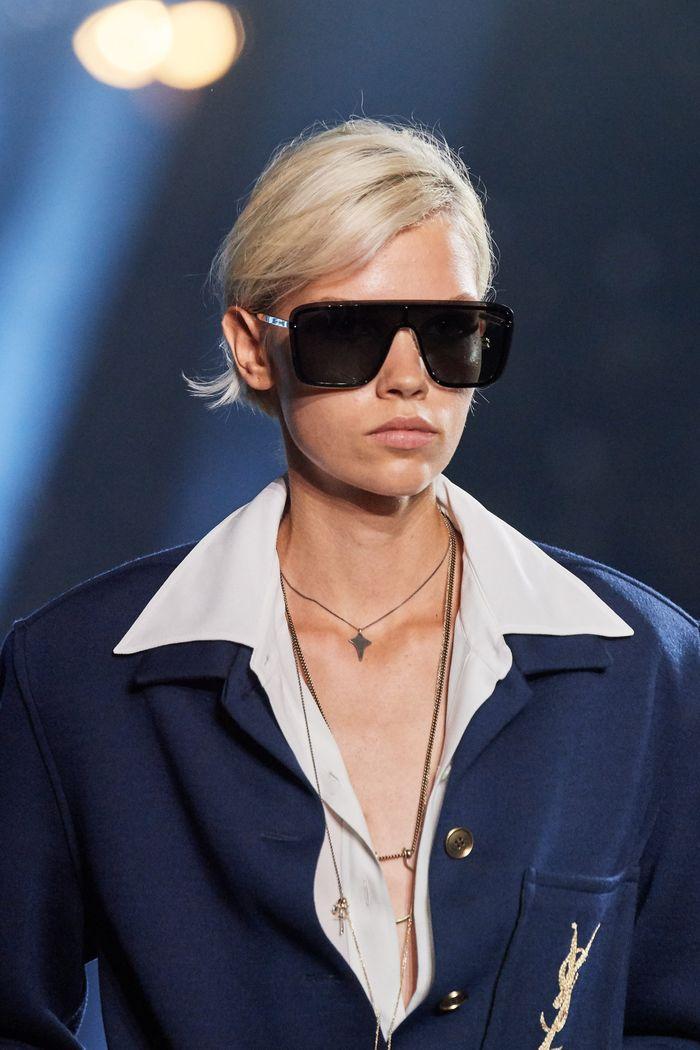 Модные очки shield из коллекции 2020 Saint Laurent