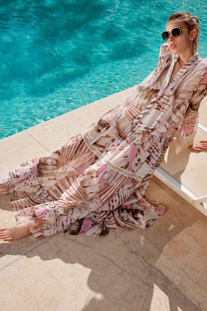 Модное длинное пляжное платье 2020 из коллекции Blumarine