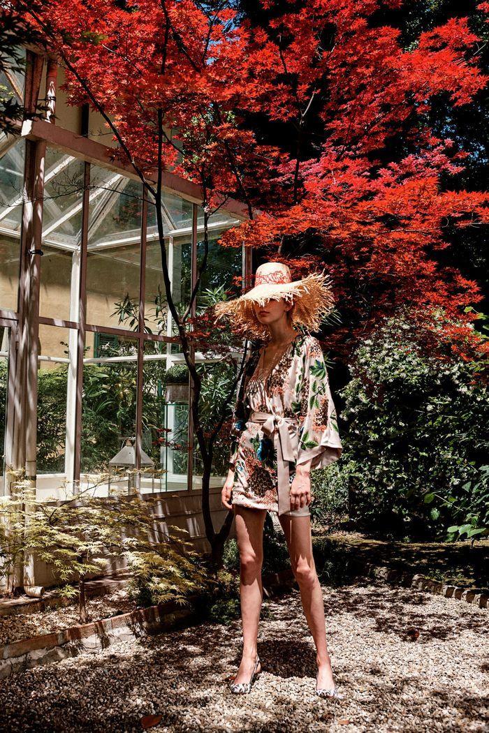 Модное пляжное платье-халат 2020 из коллекции Blumarine