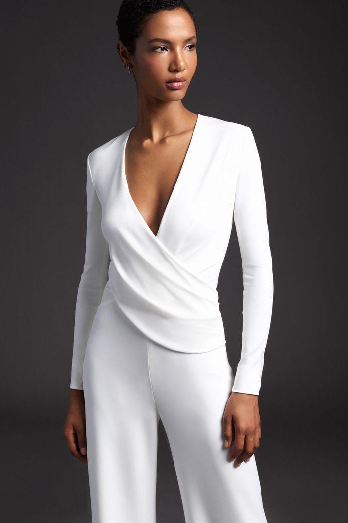 Тренд свадебной моды 2020 - свадебный костюм. Коллекция Cushnie et Ochs