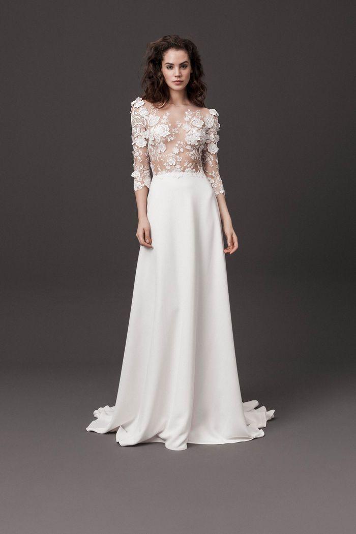 Модное свадебное платье с прозрачным корсетом из коллекции 2020 Daalarna Couture