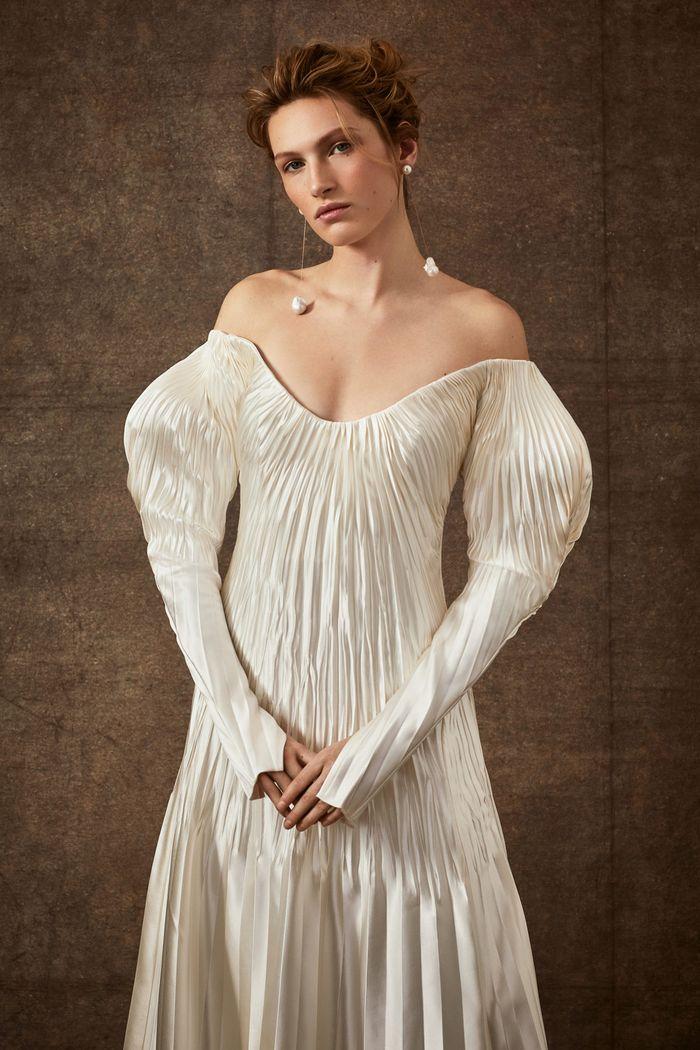 Модные свадебные плиссерованные платья из коллекции 2020 Danielle Frankel