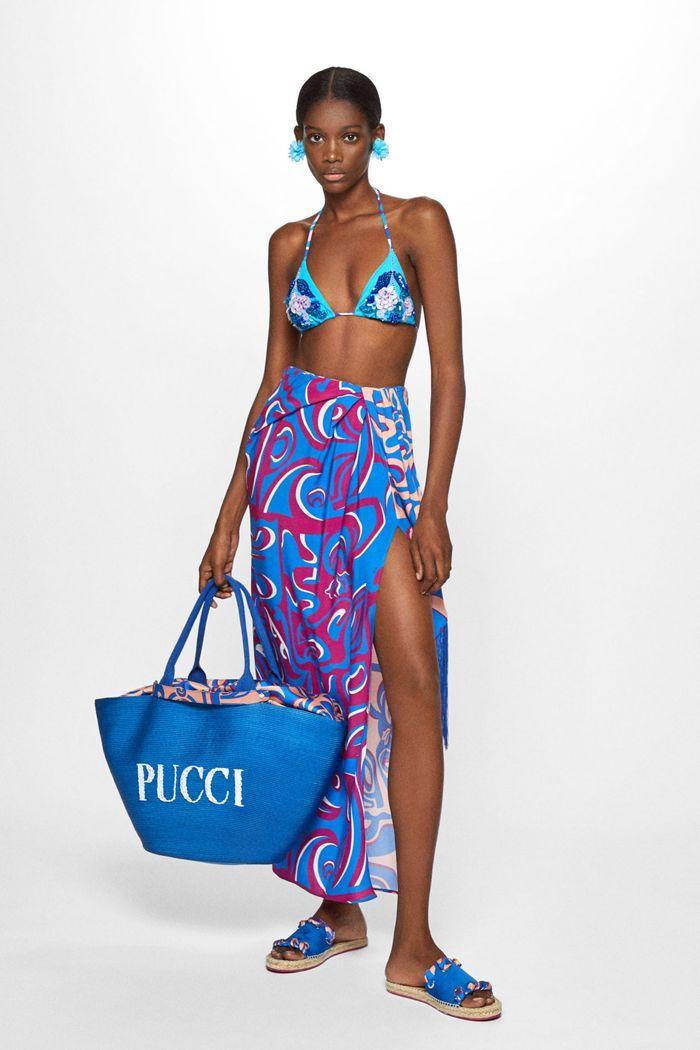 Универсальный элемент пляжной моды - красивое парео из коллекции 2020 Emilio Pucci