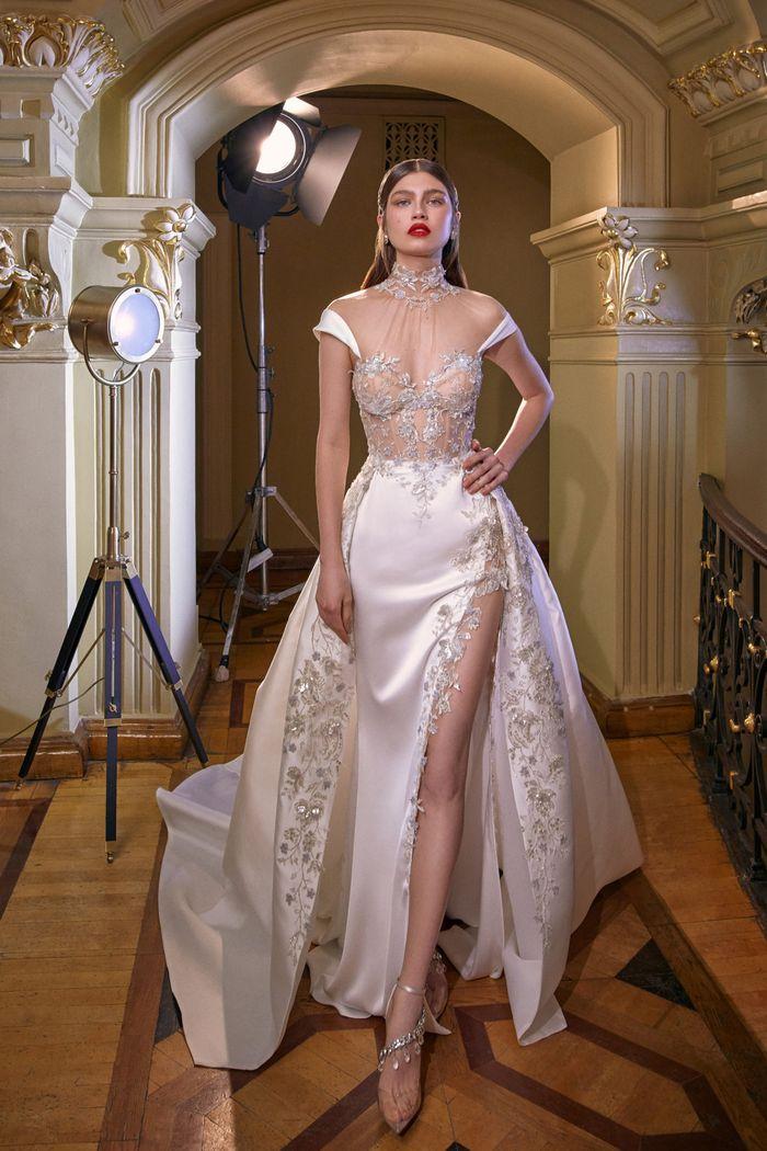 Модное свадебное платье с прозрачным корсетом из коллекции 2020 Galia Lahav